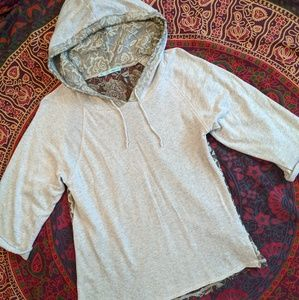 Maurices Lace Back Hooded Lt Wt Sweatshirt